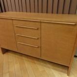 『【北欧スタイル・日進木工の家具2012】NATURAL BROWNシリーズのサイドボード・NBL-494』の画像