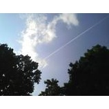 『飛行機雲は縁の暗示』の画像