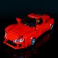 赤いスポーツカーを作りました