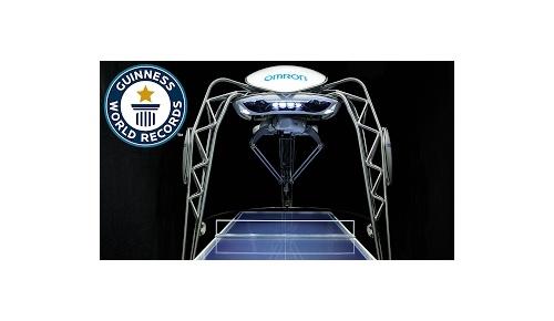 日本製オムロンの卓球ロボットがギネス世界記録に認定
