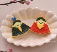 【動画レシピ】ひな祭りのお祝いワンプレートやパーティーに♡三角チーズで作るお雛様
