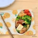 黒酢・ごま油・醤油・漬け込みチキンのお弁当