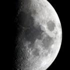 『上弦の月(月齢7.0)』の画像
