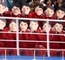 やりやがった! 北朝鮮の応援団が金日成のお面を付けて応援し炎上 「怖すぎる」との声も