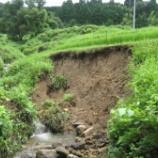 『突然襲った大雨、棚田の被害状況は?』の画像
