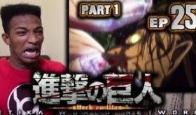 【アニメ】   黒人が 進撃の巨人 第25話 を見た時の リアクション動画 と感想。   海外の反応