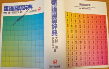 『類語国語辞典』の画像