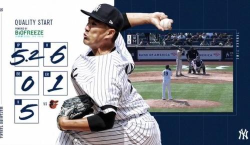 田中将大がMLB開幕投手として初勝利(ヤンキースファンの反応)
