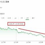 『JT株を売ろうと思います』の画像