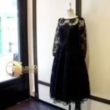 『新作 長袖スカラップギャザードレス完成。』の画像