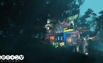 C.A.M.P.紹介:沼地の混沌とした電飾キャンプ