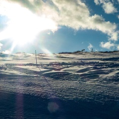 エコーバレースキー場でスキー