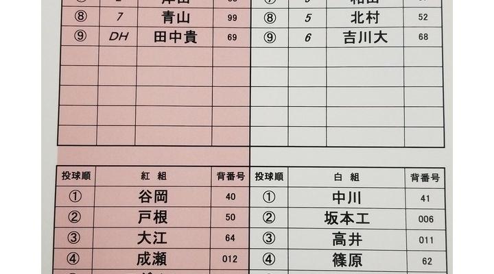 【 小林誠司さん 】巨人紅白戦のスタメン!