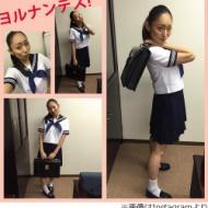 安藤美姫(27歳)がセーラー服姿を披露「ちょっと照れくさいのです…汗」 アイドルファンマスター