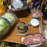 『<野戦料理>飯盒で鶏肉と白菜炒め』の画像
