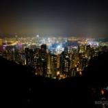 『香港の世界三大夜景 と 夜のマーケット男人街』の画像