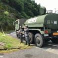 航空自衛隊春日基地、九州豪雨における災害派遣活動を熊本県八代市にて給水活動を行っています!
