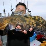 『5月27日 釣果 貸切 ロックフィッシュ こうりょう丸 58センチアイナメ』の画像
