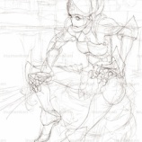 『DSドラクエ9の鎧(しんわのよろい)の線画』の画像