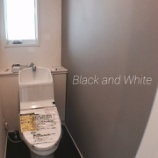 『【ピンポイントWeb内覧会】トイレはBlack&White』の画像