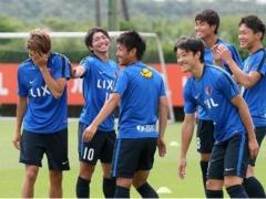 シャルケ内田がケルン大迫と共に鹿島のミニゲームに参加!