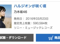 乃木坂46新曲「ハルジオンが咲く頃」初日売上59万枚!