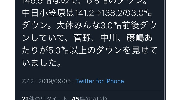 【 悲報 】巨人・菅野智之の昨日のストレート・・・MAX球速142km/h 平均球速140.1km/h