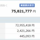 『【運用状況】2020年12月の資産総額は7580万円でした!』の画像