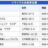 『戸田市「リサイクル自転車の販売」次回は8月5日(日)。上限8000円まで。市内の協力店舗にて販売されます。』の画像