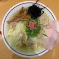 我武者羅@幡ヶ谷 「背脂塩生姜ワンタン麺」