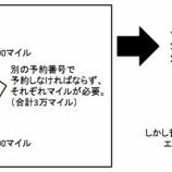 『一つの特典航空券で北海道を2往復する手法。ちょい足しが有効です。』の画像