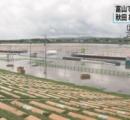 「大曲の花火」会場が大雨で浸水 26日朝に開催の最終判断へ