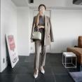 """""""オーダーメイドのKASHIYAMA""""でマイサイズのジャケット&パンツを作りました🤍"""