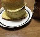 【画像】女子力の低いおっさんがホットケーキを焼いた結果