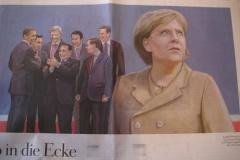 G8でぼっちになったあの首相を報じる独のイラストがひどい