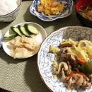 ミスド「おうちdeおばけ」&豚肉とキャベツのガリバタ炒め