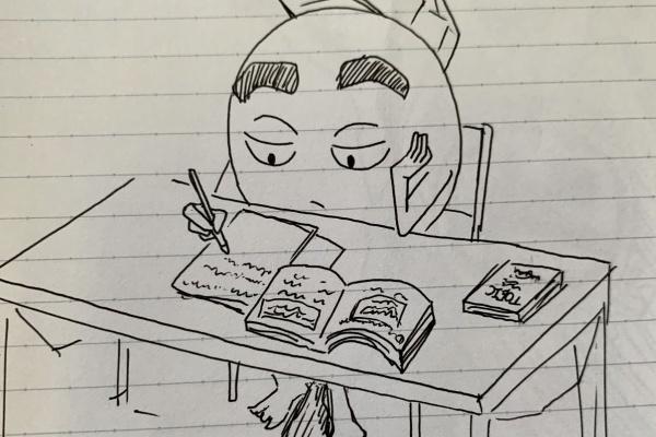 を 英語 絵 描く