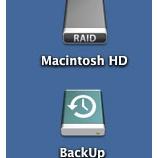 『Mac OS X 10.9  Mavericks で、「容量不足でインストールできません」と警告の出る、RAIDのHDDでもインストールできる。』の画像