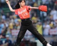 戸田恵梨香 ノーバン投球に甲子園ざわめきも「30点ぐらいですかね」