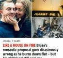 【英】100本のキャンドルを部屋に飾りプロポーズに臨んだ男性 火が燃え移り部屋が全焼