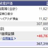 『週末(6月3日)の保有資産。3億6731万6060円』の画像