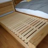 『善通寺市にクワヤ・栗と檜無垢のベッド・クラウドを納品』の画像