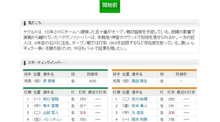 【 巨人実況!】<オープン戦> vs ヤクルト!先発は髙田萌生!捕手は大城!