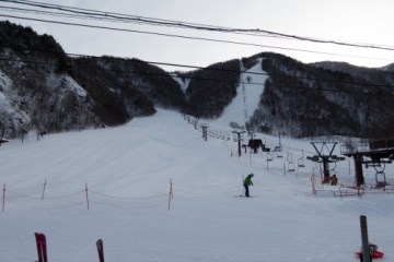 平湯温泉スキー場でスキー【2018】