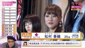 【第7回AKB総選挙】ぱるるの松村を見る顔wwwwwwwwwww