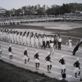 1965年 日野産業高校の県体での入場行進
