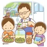 『【クリップアート】梅を漬ける家族のイラスト』の画像