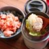 スープジャーで楽々!「肉団子と白菜のワンタンスープ」「レンジ鮭ご飯」2品弁当