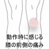『野球少年の膝痛の症例報告です。』の画像