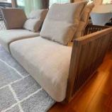 『高松市に高山ウッドワークス・連子格子のソファを納品』の画像